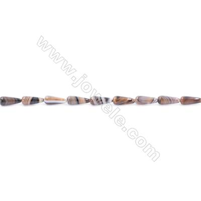Natural Banded Grey Agate Beads Strand  Round  Size 4x10mm  Hole: 1mm  about 40 beads/strand  15~16''