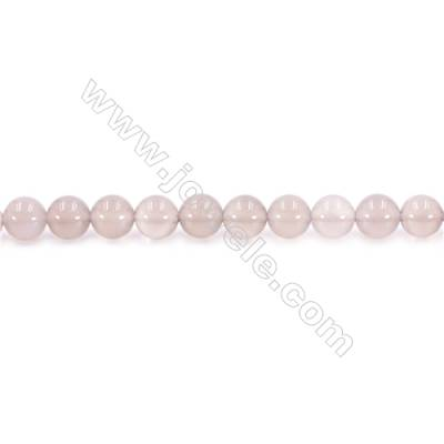 Natural Grey Agate Beads Strand  Round  diameter 8mm  Hole: 1mm  about 49 beads/strand  15~16''