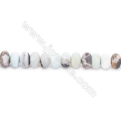 Natural Mix Color Frosted Amazonite Beads Strands  Abacus  Size 6x10mm  Hole: 1mm  about 61 beads/strand  15~16''