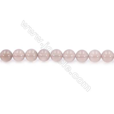 Natural Grey Agate Beads Strand  Round  diameter 10mm  Hole: 1mm  about 39 beads/strand  15~16''