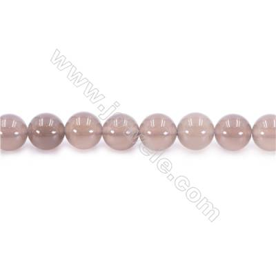 Natural Grey Agate Beads Strand  Round  diameter 12mm  Hole: 1.5mm  about 33 beads/strand  15~16''