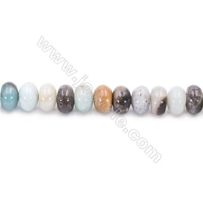 Natural Mix Color Amazonite Beads Strands  Abacus  Size 6x10mm  Hole: 1mm  about 61 beads/strand  15~16''