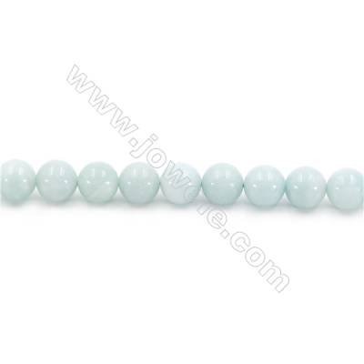 Natural Amazonite Beads Strands  Round  Diameter 10mm  Hole: 1.2mm  about 39 beads/strand  15~16''