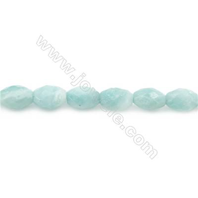 Natural Faceted Amazonite Beads Strands  Barrel   Size 8x12mm  Hole: 1mm  about 33 beads/strand  15~16''