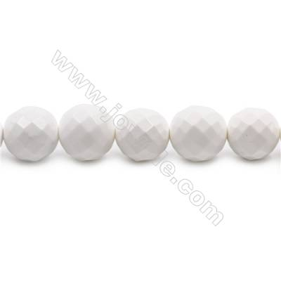 Natural White Agate Beads Strand Faceted Round  diameter 14mm  Hole: 1.5mm  about 28 beads/strand  15~16''