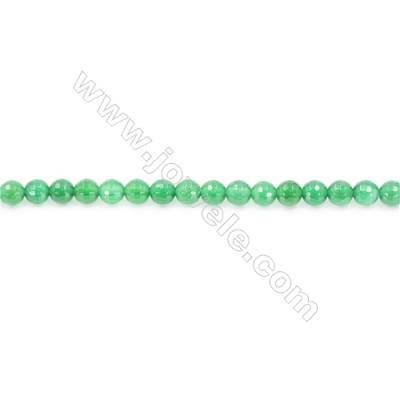 Natural Green Agate Beads Strand Faceted Round  Diameter 6mm  Hole: 1mm  about 64 beads/strand  15~16''