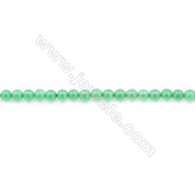 Natural Green Agate Beads Strand  Round  Diameter 3mm  Hole: 0.8mm  about 128 beads/strand  15~16''