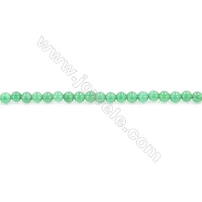 Natural Green Agate Beads Strand  Round  Diameter 4mm  Hole: 0.8mm  about 98 beads/strand  15~16''
