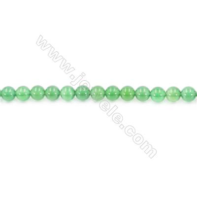 Natural Green Agate Beads Strand  Round  Diameter 6mm  Hole: 1mm  about 64 beads/strand  15~16''