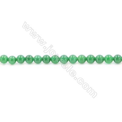 Natural Green Agate Beads Strand  Round  Diameter 8mm  Hole: 1mm  about 49 beads/strand  15~16''