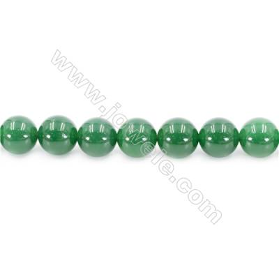 Natural Green Agate Beads Strand  Round  Diameter 14mm  Hole: 1.5mm  about 28 beads/strand  15~16''