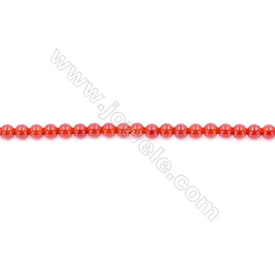 Natural Red Agate Beads Strand  Round  Diameter 4mm  Hole: 1mm  about 98 beads/strand 15~16''