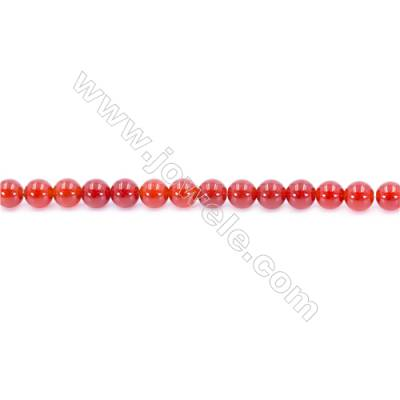 Natural Red Agate Beads Strand  Round  Diameter 6mm  Hole: 1mm  about 62 beads/strand 15~16''