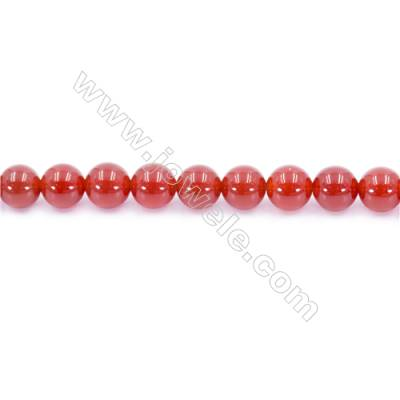 Natural Red Agate Beads Strand  Round  Diameter 8mm  Hole: 1mm  about 49 beads/strand 15~16''