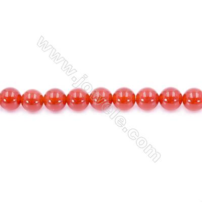 Natural Red Agate Beads Strand  Round  Diameter 10mm  Hole: 1mm  about 38 beads/strand 15~16''