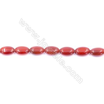 Natural Red Agate Beads Strand  Oval  Size 8x12mm  Hole: 1mm  about 34 beads/strand  15~16''