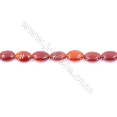 Natural Red Agate Beads Strand  Oval  Size 10x14mm  Hole: 1mm  about 29 beads/strand  15~16''