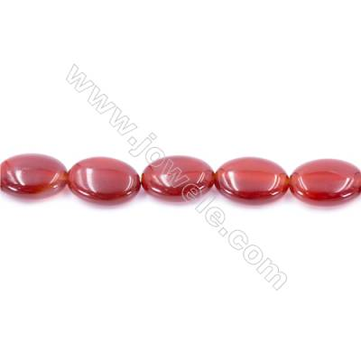 Natural Red Agate Beads Strand  Oval  Size 13x18mm  Hole: 1mm  about 22 beads/strand  15~16''