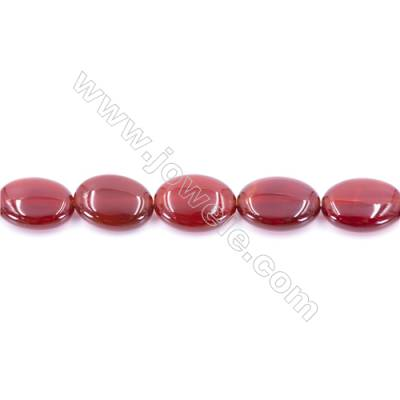 Natural Red Agate Beads Strand  Oval  Size 15x20mm  Hole: 1mm  about 20 beads/strand  15~16''