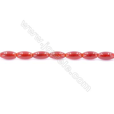 Natural Red Agate Beads Strand  Rice  Size 6x12mm  Hole: 1mm  about 33 beads/strand  15~16''