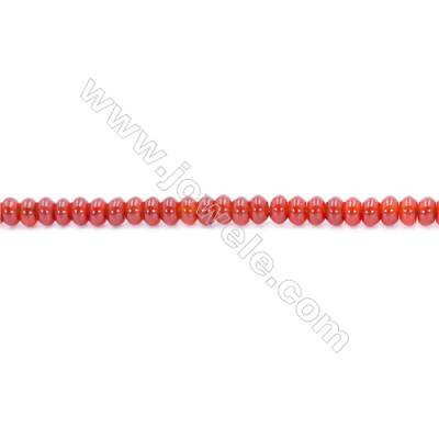 Natural Red Agate Beads Strand  Abacus  Size 3x6mm  Hole: 1mm  about 113 beads/strand  15~16''