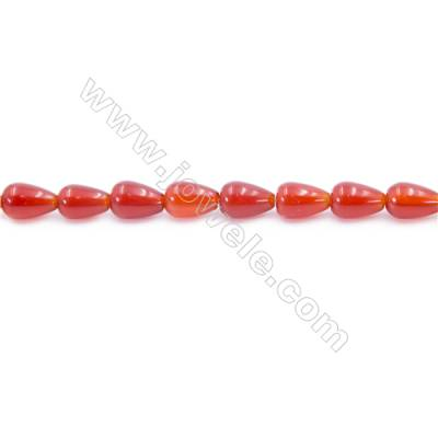 Natural Red Agate Beads Strand  Teardrop  Size 6x10mm  Hole: 1mm  about 43 beads/strand  15~16''