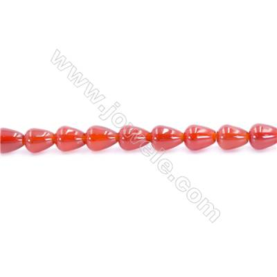 Natural Red Agate Beads Strand  Teardrop  Size 8x10mm  Hole: 1mm  about 40 beads/strand  15~16''
