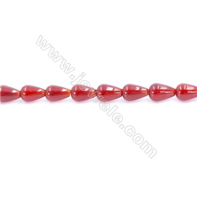 Natural Red Agate Beads Strand  Teardrop  Size 8x12mm  Hole: 1mm  about 33 beads/strand  15~16''