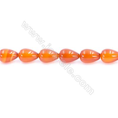 Natural Red Agate Beads Strand  Teardrop  Size 10x14mm  Hole: 1mm  about 29 beads/strand  15~16''