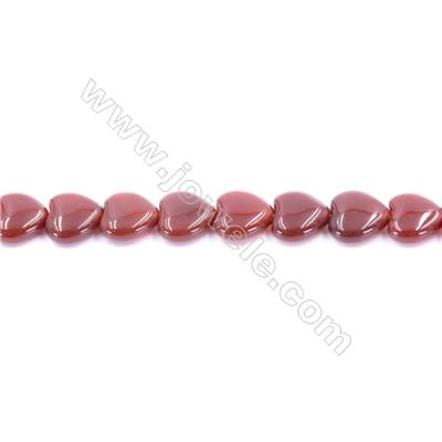 Natural Red Agate Beads Strand  Heart  Size 12x12mm  Hole: 1mm  about 35 beads/strand  15~16''