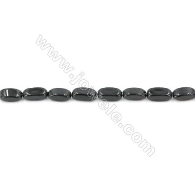 Natural Black Agate Beads Strand Cuboid  Size 5x11mm  Hole: 1mm  about 36 beads/strand  15~16''