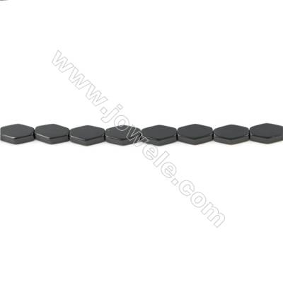 Black Agate Beads Strand  Rhombus  Size 7x12mm  Hole: 1mm  about 33 beads/strand  15~16''
