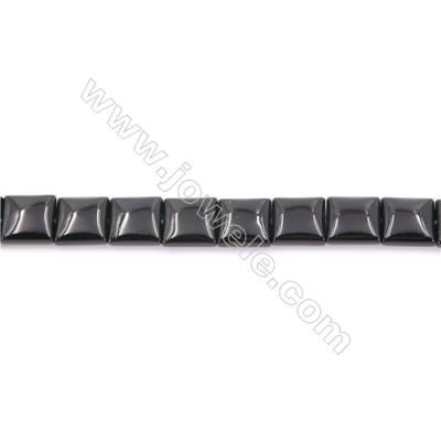 Natural Black Agate Beads Strand  Square  Size 12x12mm  Hole: 1mm  about 34 beads/strand  15~16''