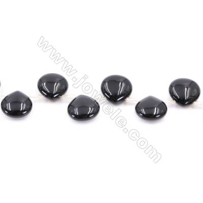 Black Agate Beads Strand  Teardrop  Size 14x14mm  Hole: 0.7mm  about 29 beads/strand  15~16''