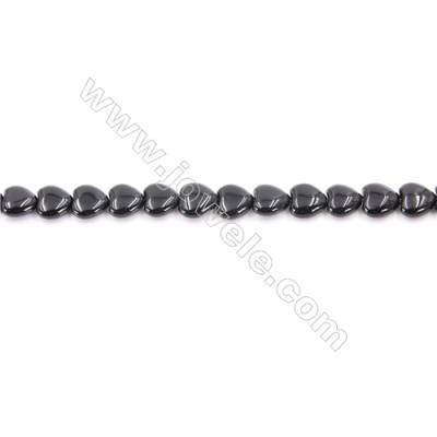 Natural Black Agate Beads Strand Heart  Size 8x8mm  Hole: 1mm  about 50 beads/strand  15~16''