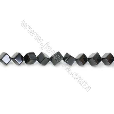 Natural Black Agate Beads Strand  Cube  Size 12x12mm  Hole: 1.5mm  about 34 beads/strand  15~16''