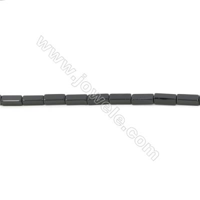 Natural Black Agate Beads Strand Cuboid  Size 5x14mm  Hole: 1mm  about 29 beads/strand  15~16""
