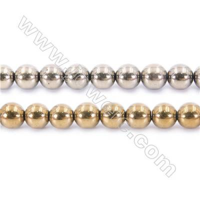 Multi-color Plating Hematite Beads Strand, Round, Diameter 12mm, hole 1.5mm, about 34 beads/strand, 15~16""
