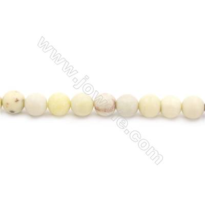 Frosted Australian Butter Jade Beads Strand  Round  Diameter 8mm  hole 1mm  about 51 beads/strand  15~16""