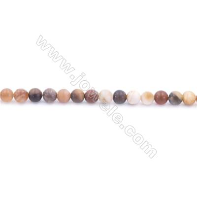 Frosted Wood Opalite Beads Strand  Round  Diameter 4mm  hole 0.8mm  about 96 beads/strand  15~16""