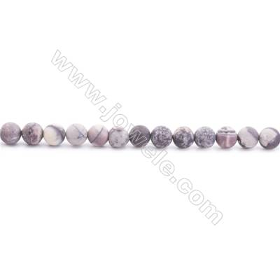Frosted Porcelain Jasper Beads Strand  Round  Diameter 6mm  hole 1mm  about 65 beads/strand  15~16""