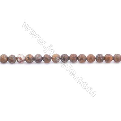 Frosted African Green Opal Beads Strand  Round  Diameter 4mm  hole 0.8mm  about 91 beads/strand  15~16""