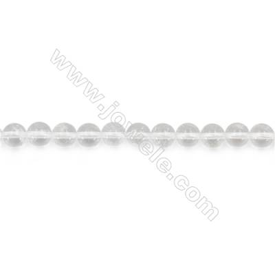Natural Rock Crystal Beads Strand  Round  Diameter 6mm  hole 1mm  about 61 beads/strand 15~16""