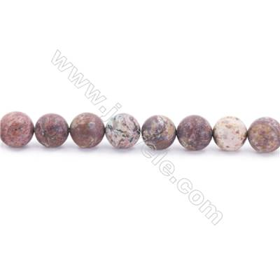 Frosted African Green Opal Beads Strand  Round  Diameter 10mm  hole 1mm  about 39 beads/strand  15~16""