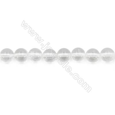 Natural Rock Crystal Beads Strand  Round  Diameter 8mm  hole 1mm  about 45 beads/strand 15~16""