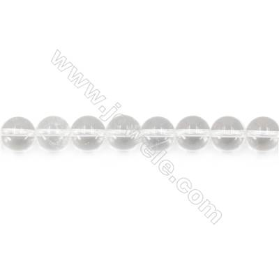 """Natural Rock Crystal Beads Strand  Round  Diameter 10mm  hole 1mm  about 39 beads/strand 15~16"""""""