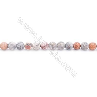 Frosted Sky Eye Jasper Beads Strand  Round  Diameter 6mm  hole 1mm  about 64 beads/strand 15~16""