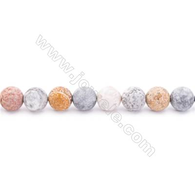 """Frosted Sky Eye Jasper Beads Strand  Round  Diameter 8mm  hole 1mm  about 48 beads/strand 15~16"""""""