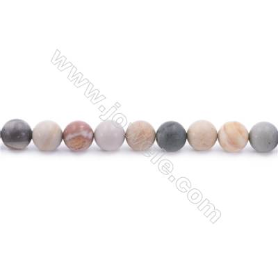 """Frosted Polychrome Jasper Beads Strand  Round  Diameter 8mm  hole 1mm  about 45 beads/strand 15~16"""""""