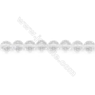 Natural Rock Crystal Beads Strand Faceted Round  Diameter 8mm  hole 1mm  about 47 beads/strand 15~16""